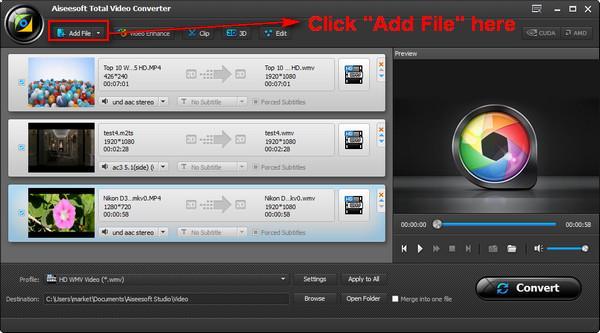Importe seus arquivos ao programa