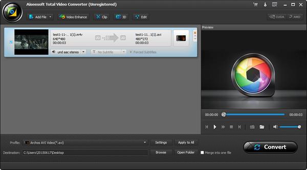 Importe seus vídeos em M4V