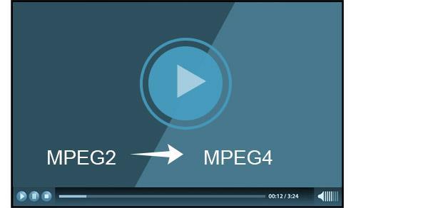 MPEG2 para MPEG4