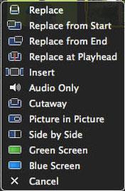Arraste o vídeo com fundo verde