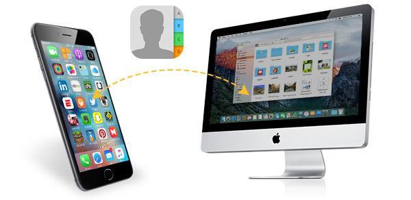 Transferir os contatos do iPhone para um Mac