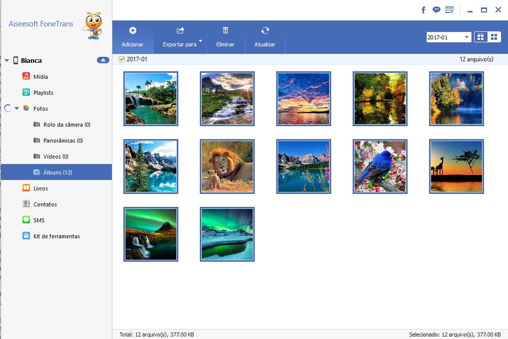 Importar fotos para iPad
