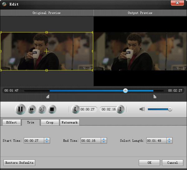 Corte a duração do seu vídeo