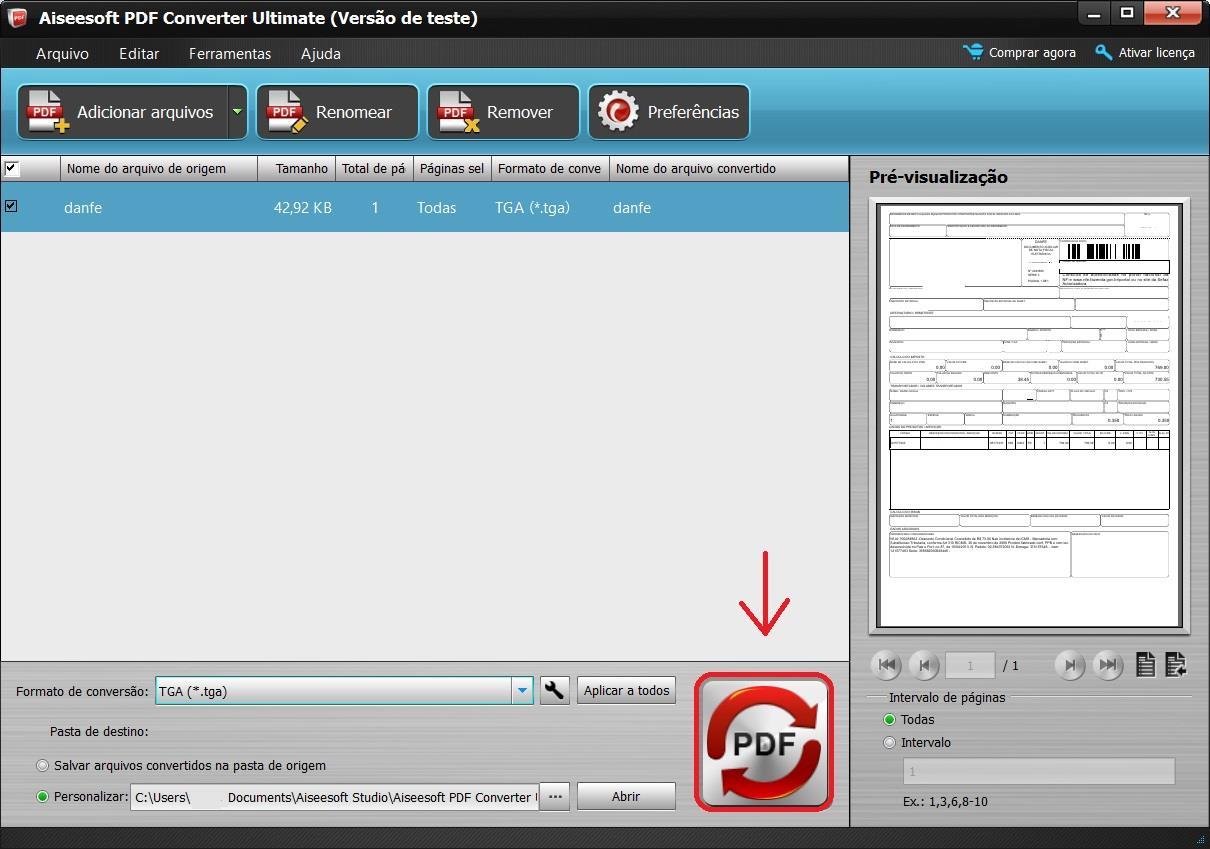 Inicie a conversão de seus arquivos PDF para Excel