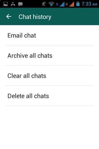 Enviar conversa por email