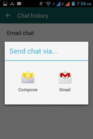 Selecione como deseja enviar sua conversa