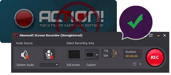 Alternativa ao gravador de tela Action!