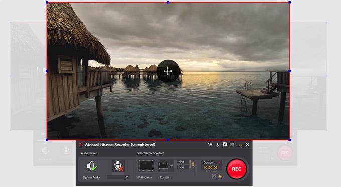 Clique em REC para começar a gravar seus vídeos