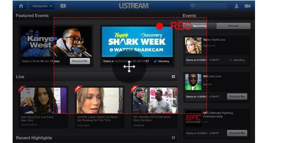 Como gravar vídeos do Ustream