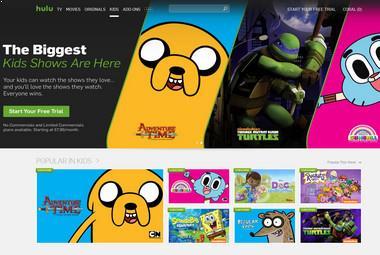 Assista desenhos animados grátis no Hulu