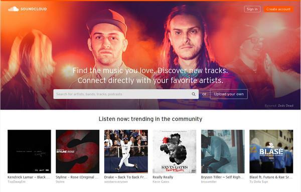 Entre em sua conta do SoundCloud