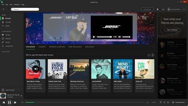 Abra o Spotify e o Screen Recorder