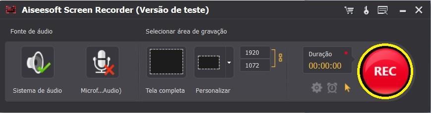 Ajuste as configurações do Screen Recorder