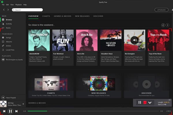 Grave suas músicas favoritas do Spotify