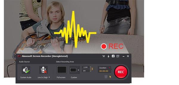 Como gravar streamings de áudio
