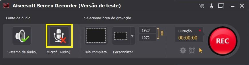 Ajuste as configurações do Screen Recorder