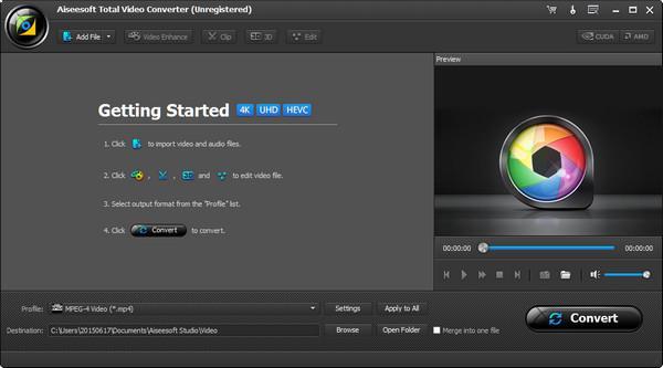 Abra o Video Converter Ultimate em seu computador