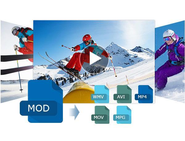 Converter MOD para WMV, AVI, MP4, MOV e MPG