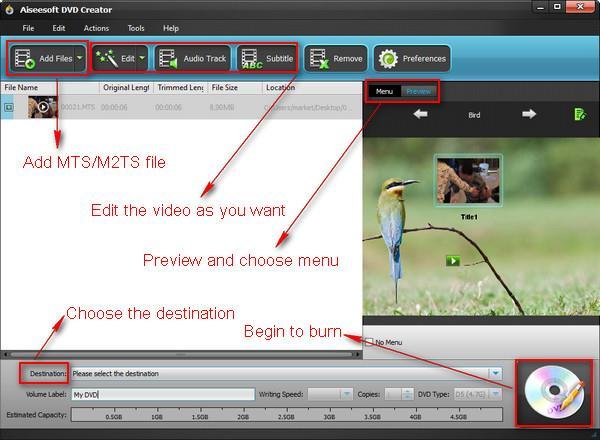 Grave seu DVD com arquivos MTS