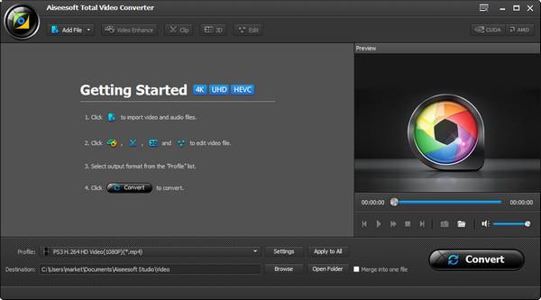 Abra o Video Converter Ultimate para converter o arquivo formato RM