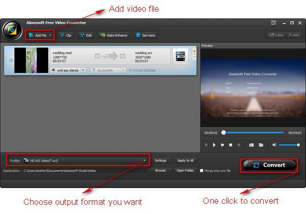 Converter arquivos MOD e TOD com o Video Converter Ultimate