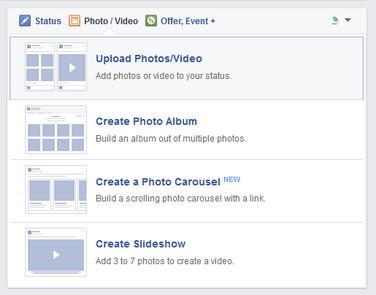 Envie vídeos para o Facebook