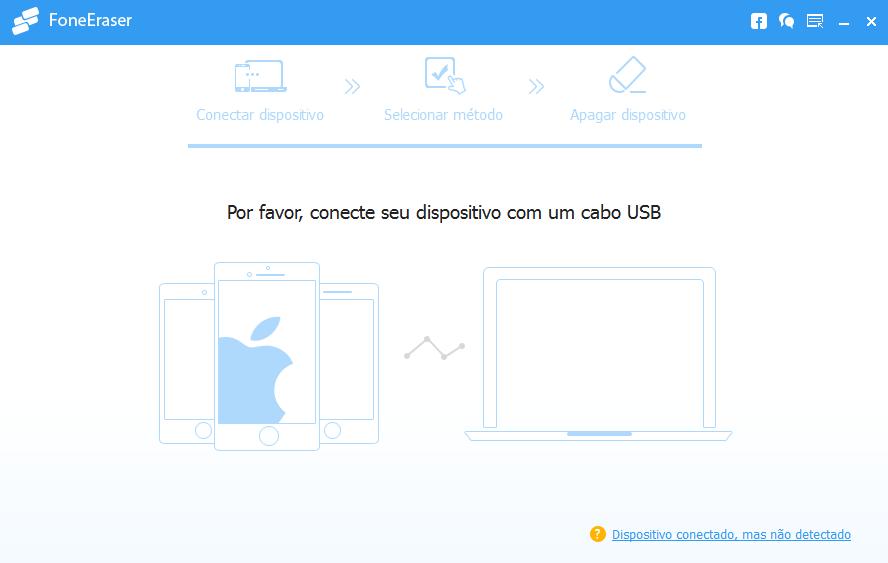 Abrir FoneEraser - apagar dados iphone