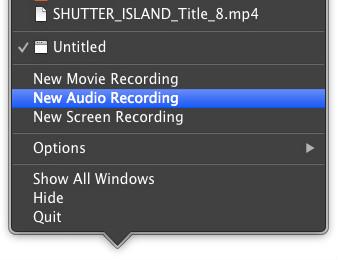 Nova Gravação de Áudio