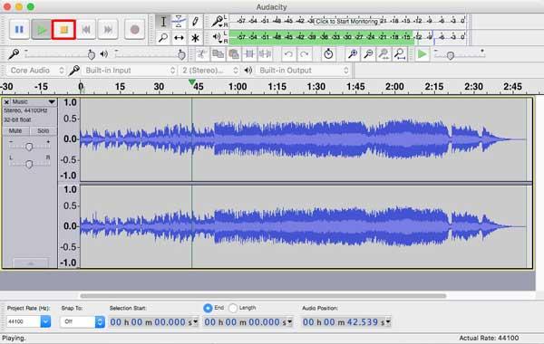 Edite seus arquivos de áudio