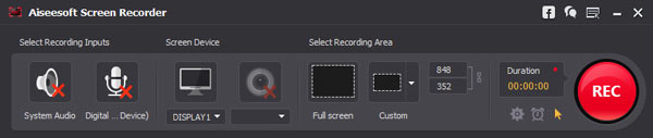 Abra o Screen Recorder
