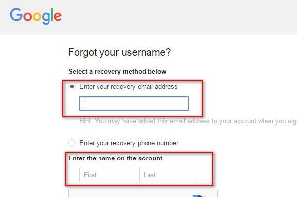 Digite seu endereço de e-mail de recuperação