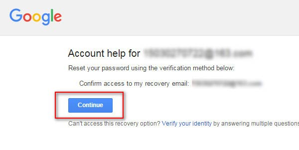 Utilize seu e-mail secundário para recuperar sua senha