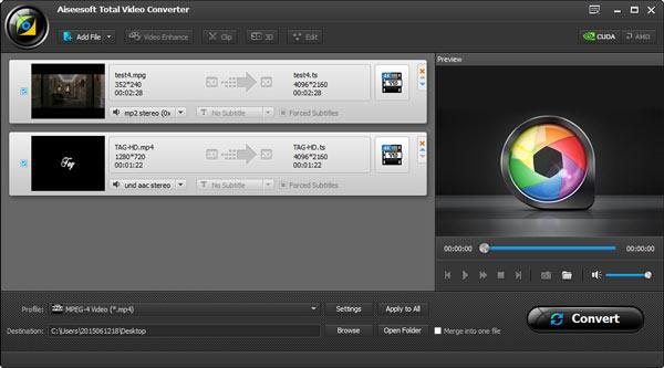 Importe os vídeos que você deseja converter