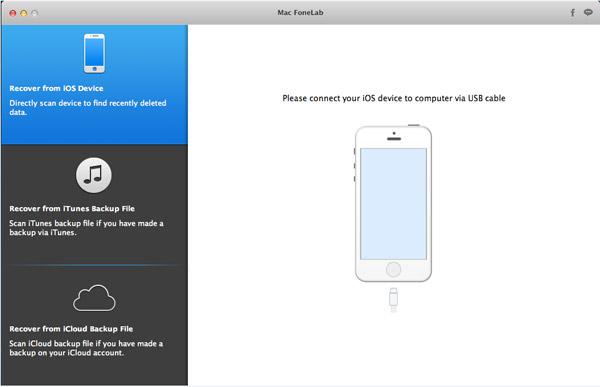 Selecione o modo Recuperar de dispositivo iOS