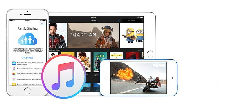 Biblioteca do iTunes e compartilhamento de arquivos