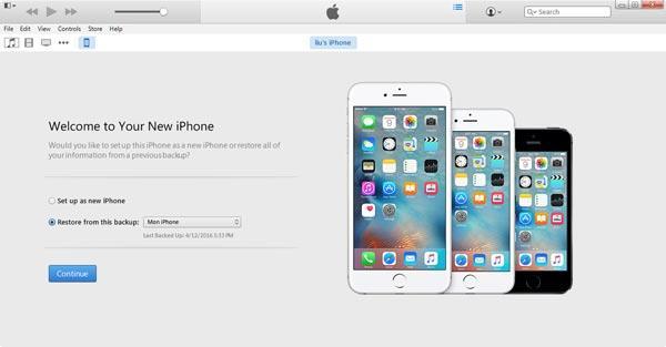 Restaure seu iPhone com um backup do iTunes