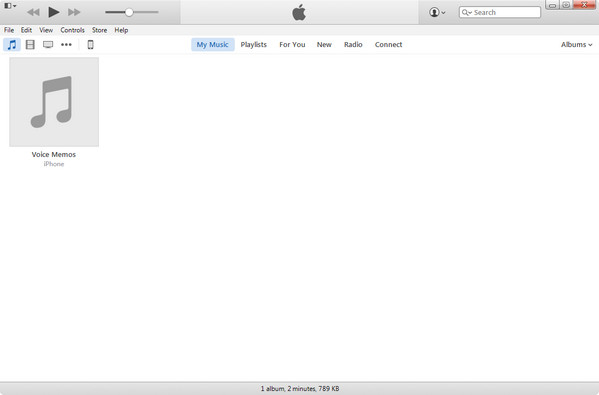 Abra o iTunes e conecte seu iPod ao PC