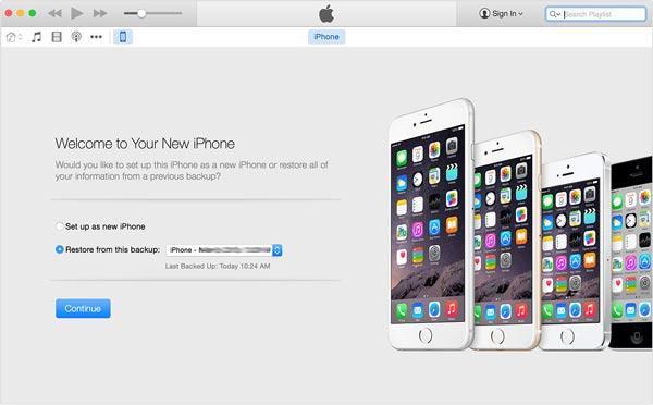 Restaure seu iPhone com um backup