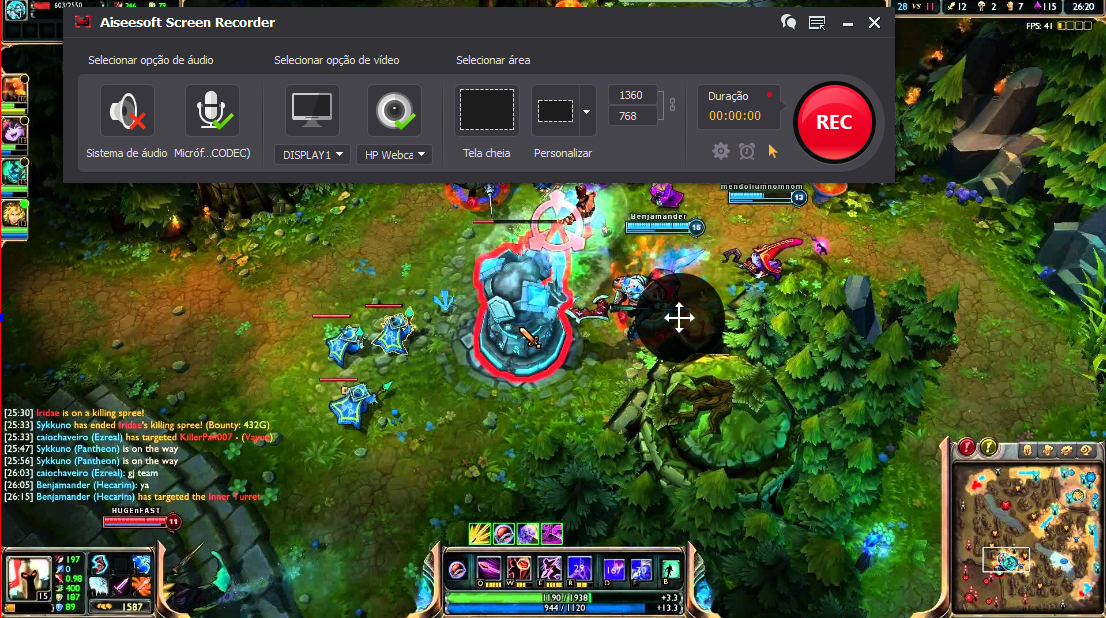 Capturar a tela do PC para gravar gameplay