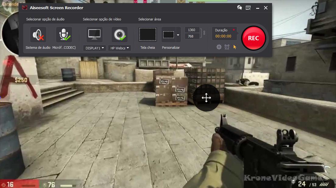 Abra o CS:GO e clique no botão REC para começar a gravar
