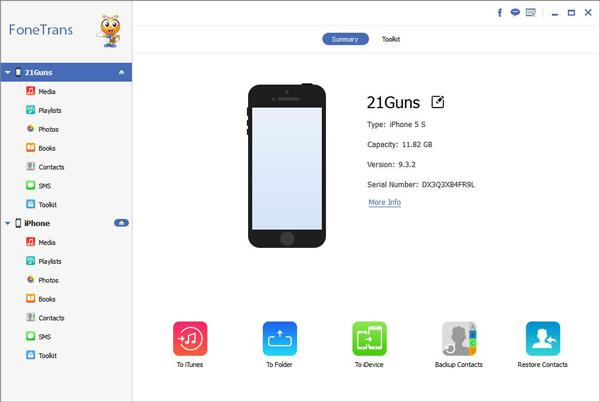 Software transferir dados iPhone computador Aiseesoft FoneTrans