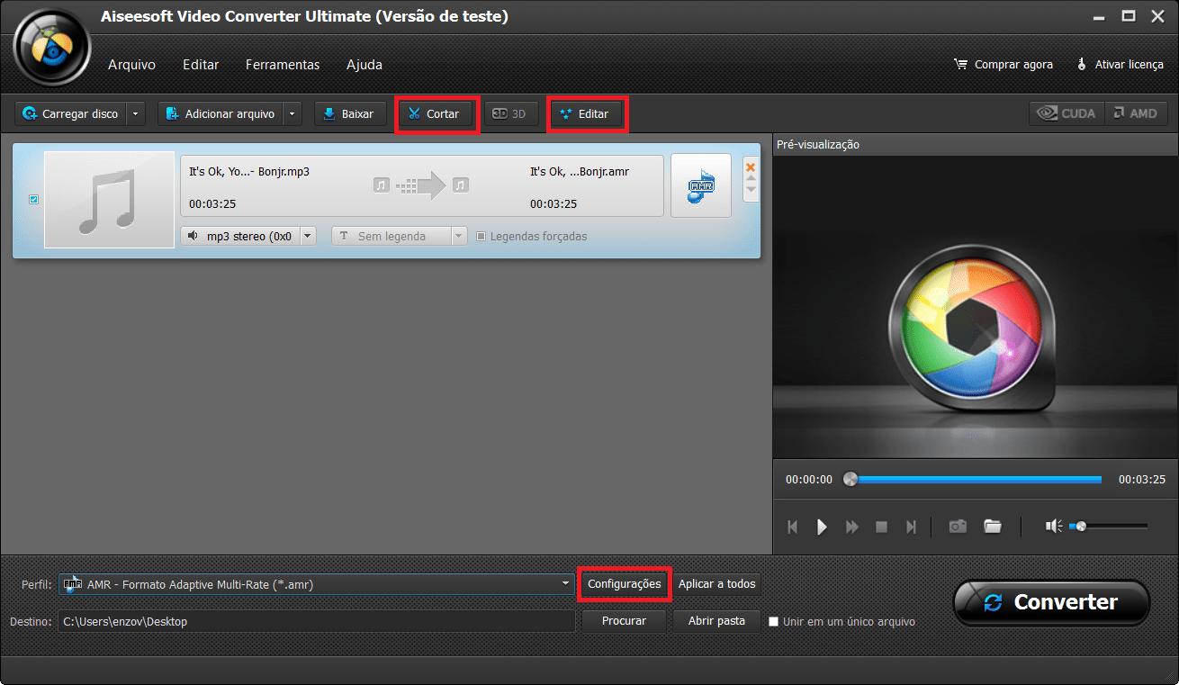 Edite seu arquivo como quiser antes de convertê-lo