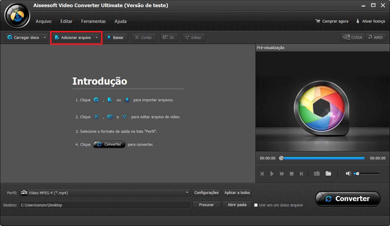 Abra o programa e importe o áudio ac3 a ser convertido para arquivo aac