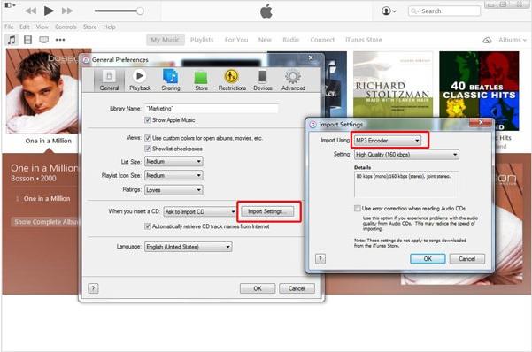 Convertir iTunes