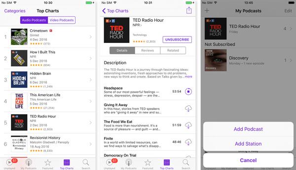Crie um podcast em seu iPhone