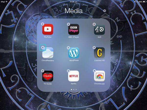 Remova seus apps pelo menu