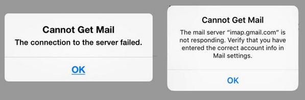 Error con emails en iPhone