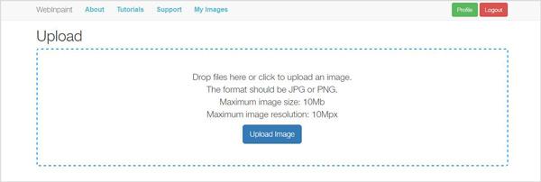 Faça o upload da imagem da qual quer tirar a marca d'água