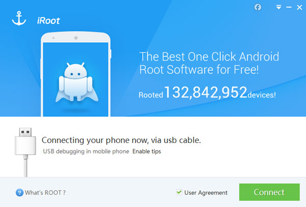 Conecte o dispositivo ao PC para fazer root