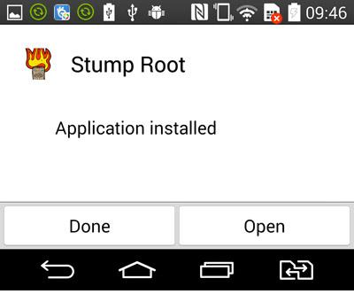 Abra o app